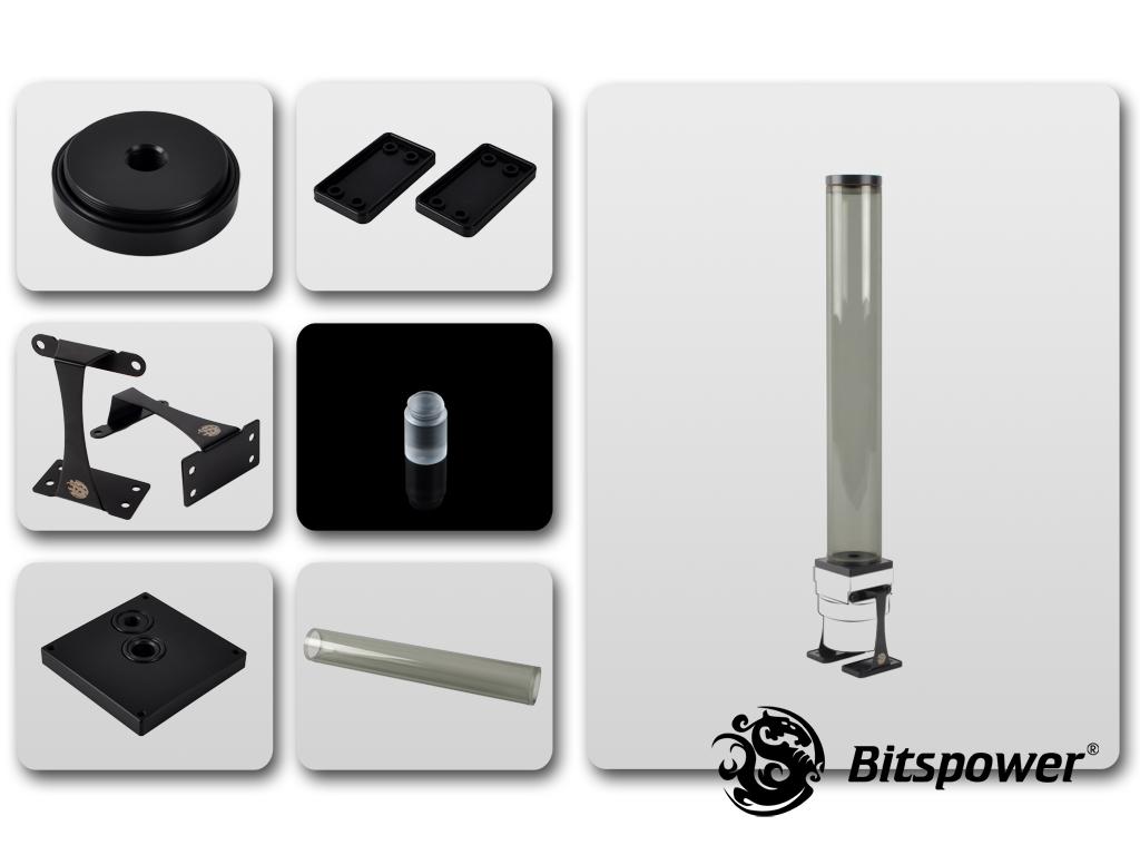 Dual/Single D5 Top Upgrade Kit 400 (ICE Black Tube+Black POM Cap)
