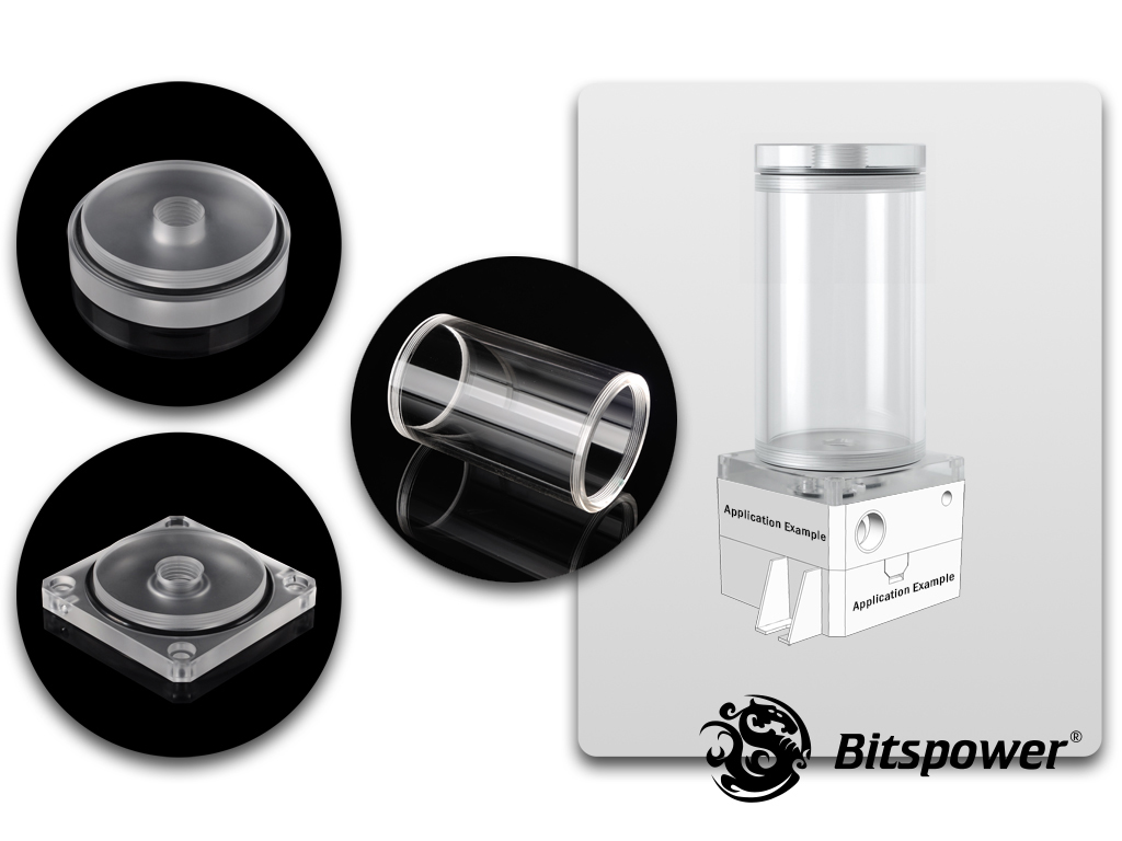 Bitspower DDC TOP Upgrade Kit 100 (Acrylic Version)