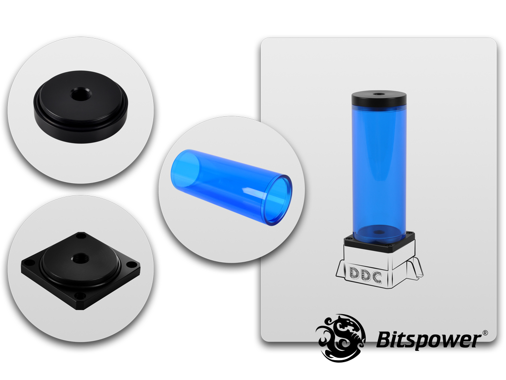 Bitspower DDC TOP Upgrade Kit 150(ICE Blue Body & Black POM Version)
