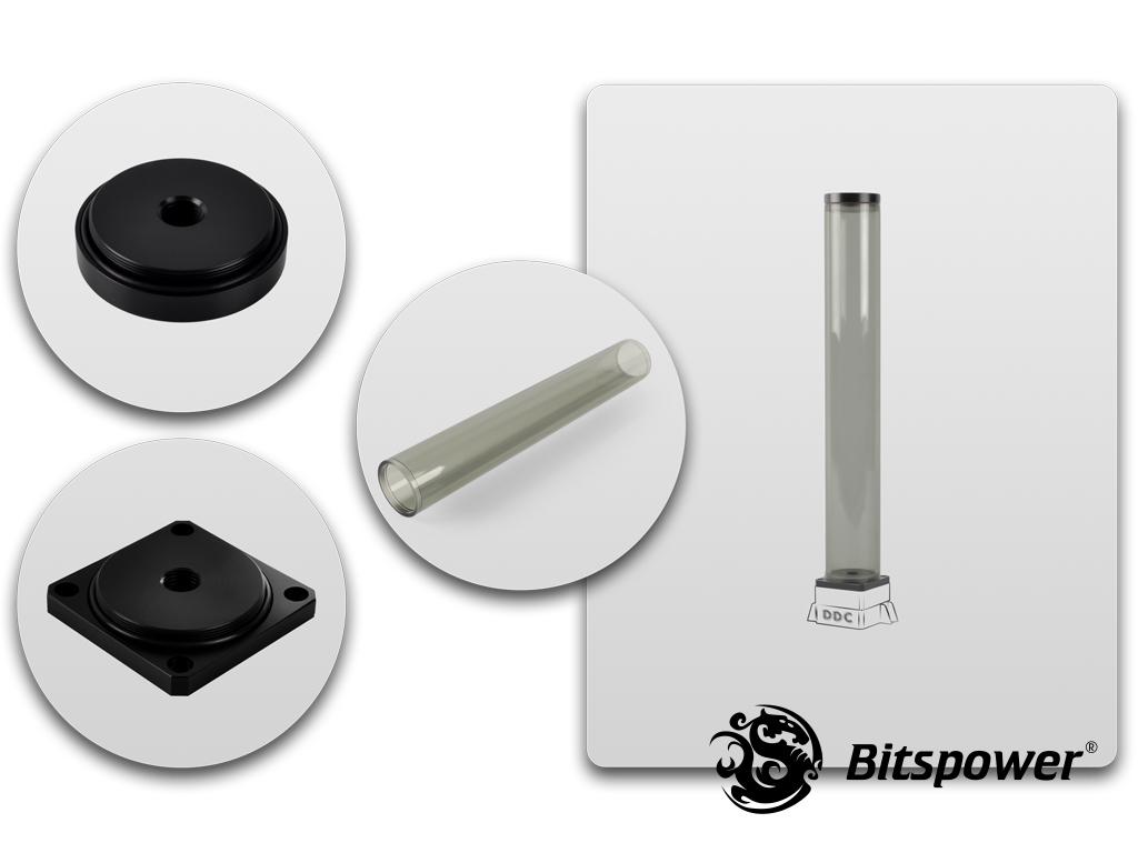 Bitspower DDC TOP Upgrade Kit 400(ICE Black Body & Black POM Version)