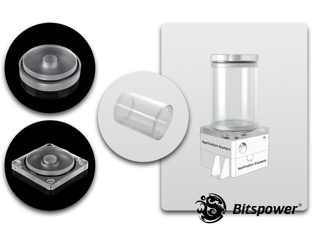 Bitspower DDC TOP Upgrade Kit 80(Acrylic Version)