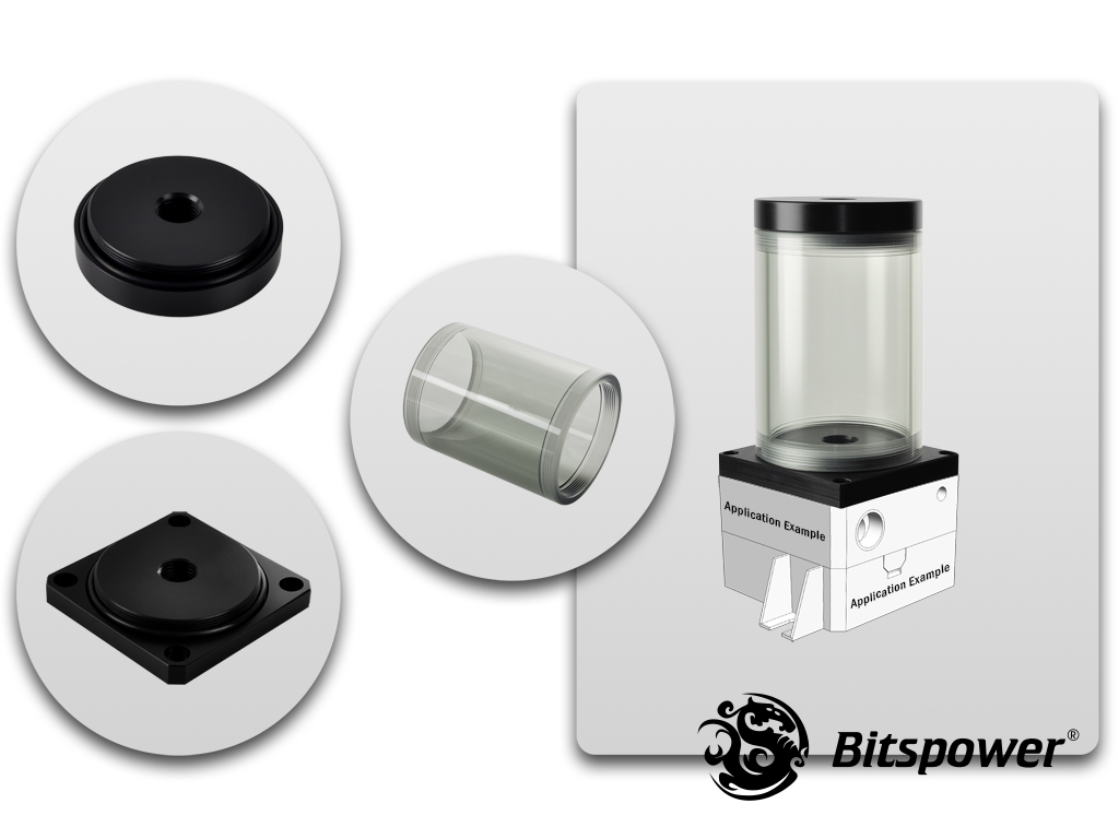 Bitspower DDC TOP Upgrade Kit 80(ICE Black Body & Black POM Version)