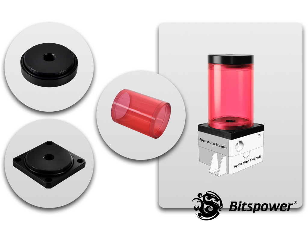 Bitspower DDC TOP Upgrade Kit 80(ICE Red Body & Black POM Version)