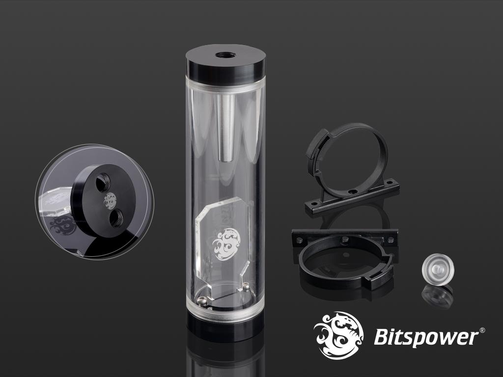 Bitspower Water Tank Z-Multi Compact 150 (Black Acrylic Version)