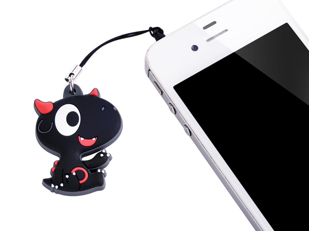 Bitspower Q-Dragon Baby Design Earphone Jack (Red)