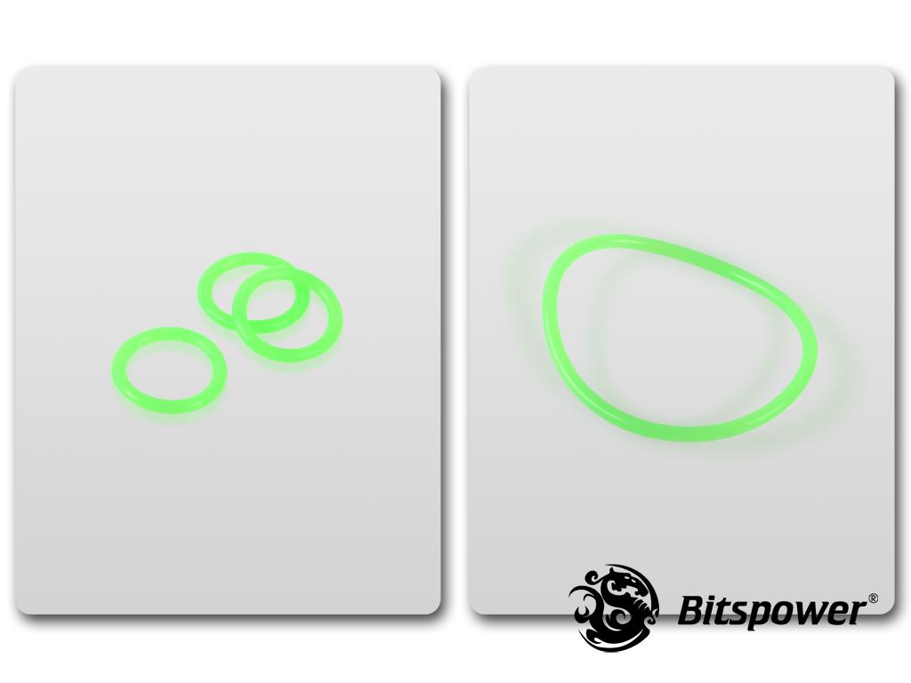 O-Ring Kit For Bitspower D5 MOD TOP EXTREME (UV Green)