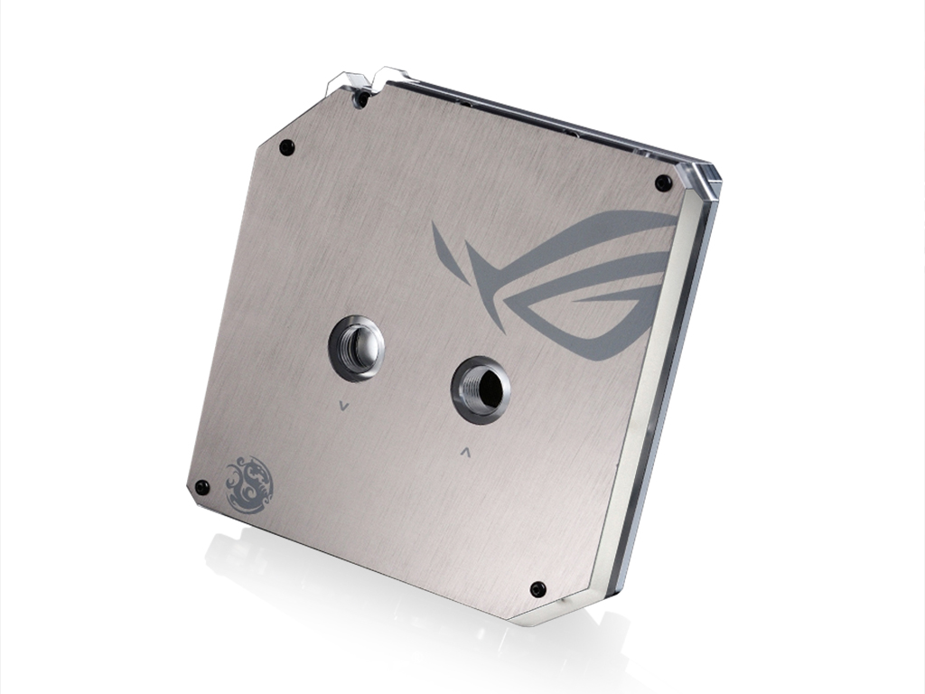 Bitspower ASUS MAXIMUS VIII HERO Nickel Plated Full-Covered-Block (ROG Version)