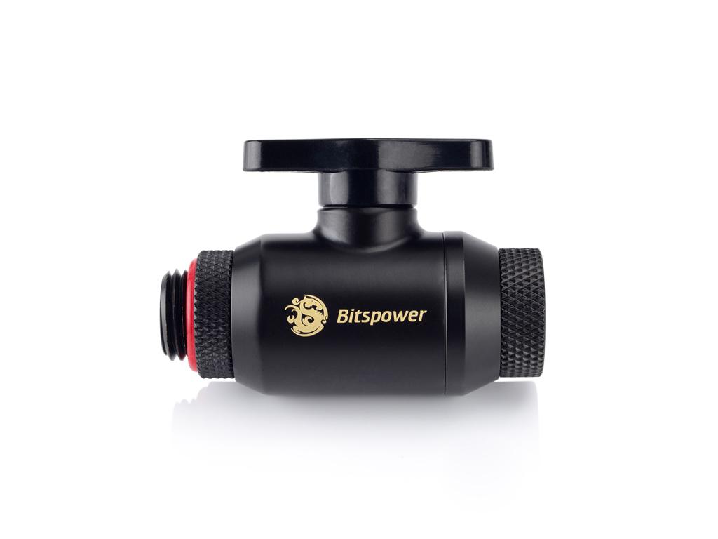 Bitspower Carbon Black Mini Valve Rotary G1/4