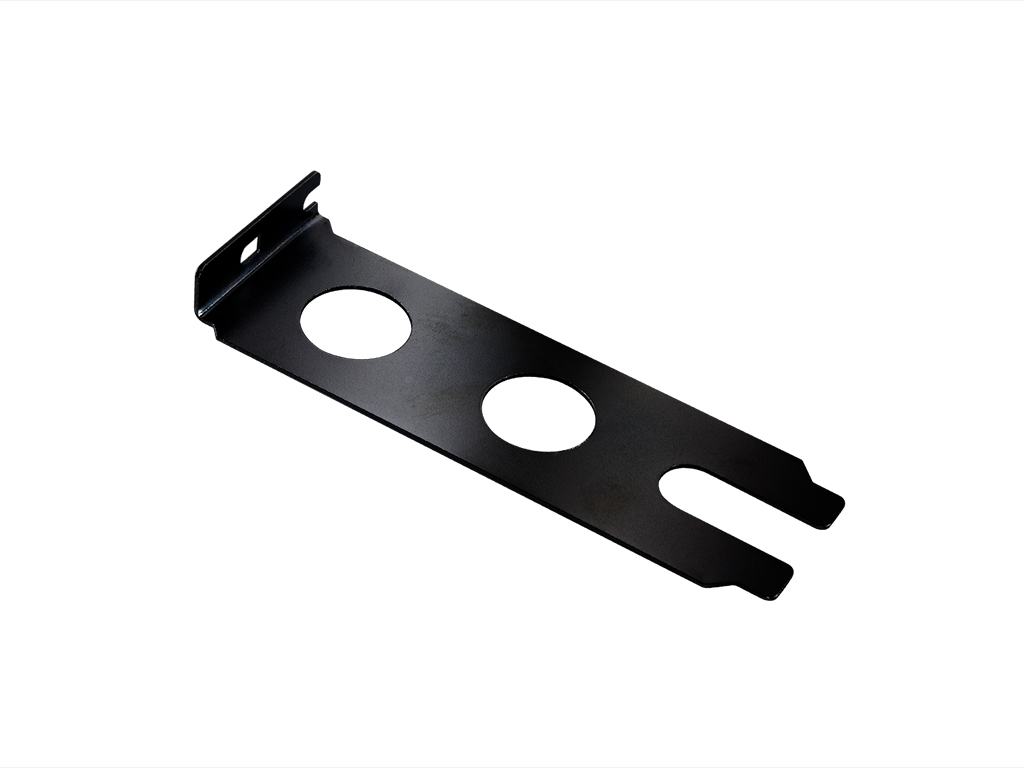 Dual PCI Pass Through Bracket (Black)