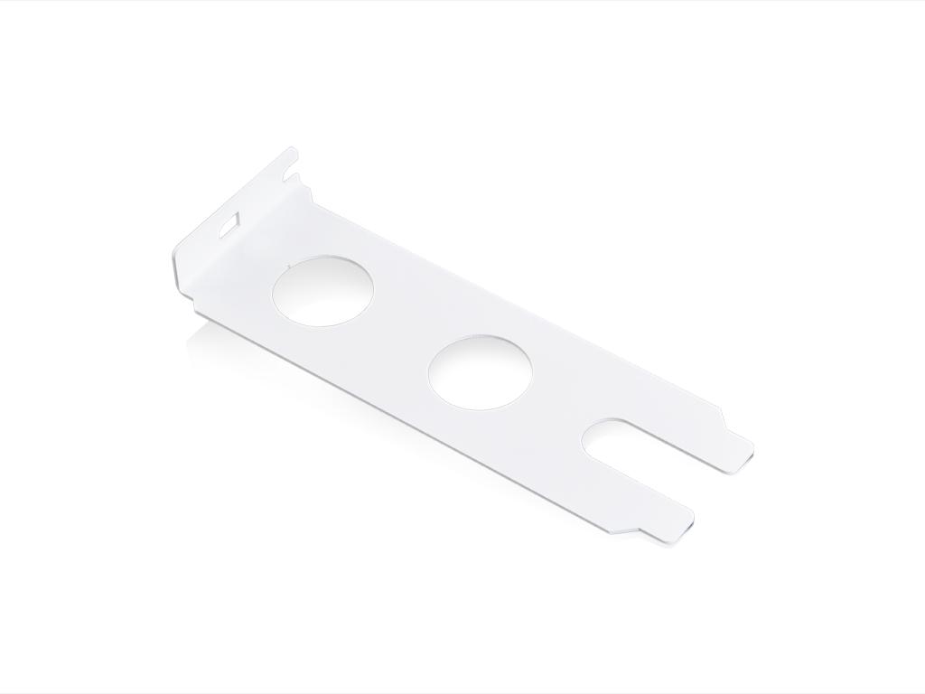 Dual PCI Pass Through Bracket (White)