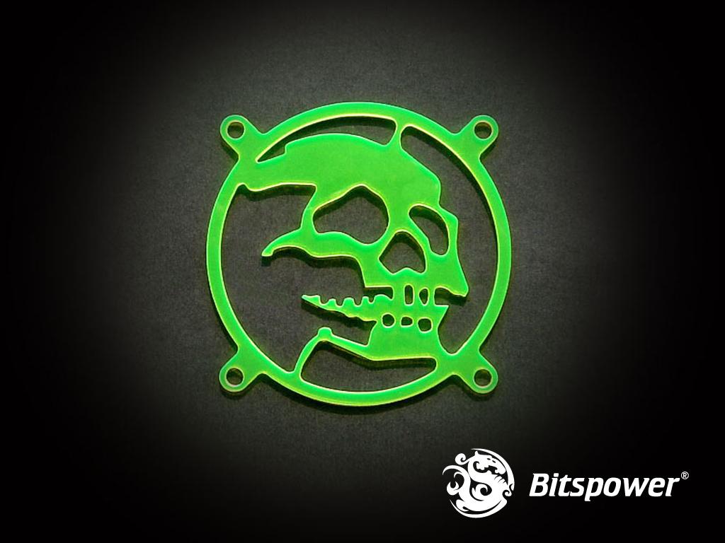 80MM LASER CUT UV-Reactive FAN Grill Skull