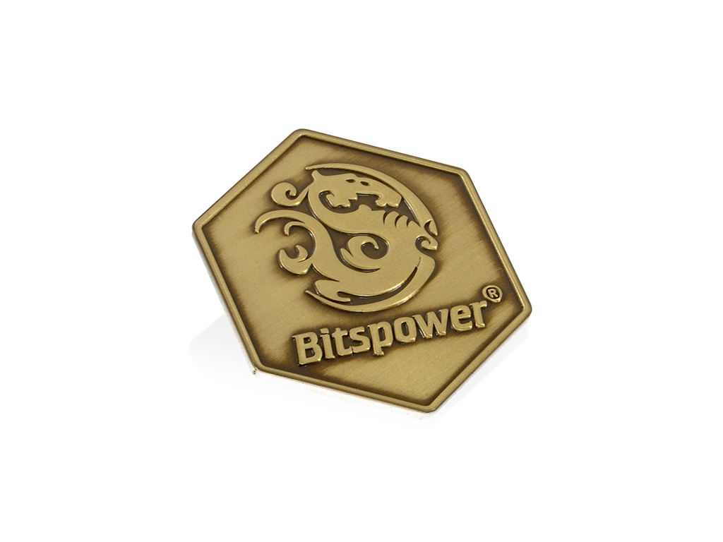 Bitspower Logo Badge I (Old Gold Version)