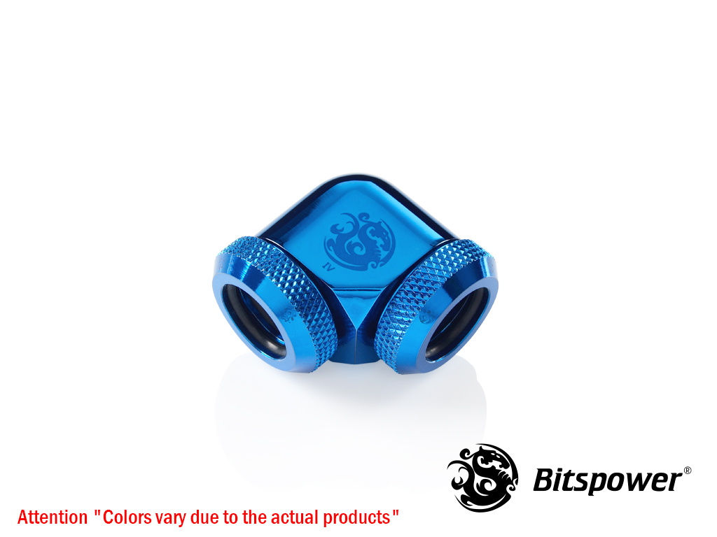 Bitspower Royal Blue Enhance 90-Degree Dual Multi-Link Adapter For OD 12MM