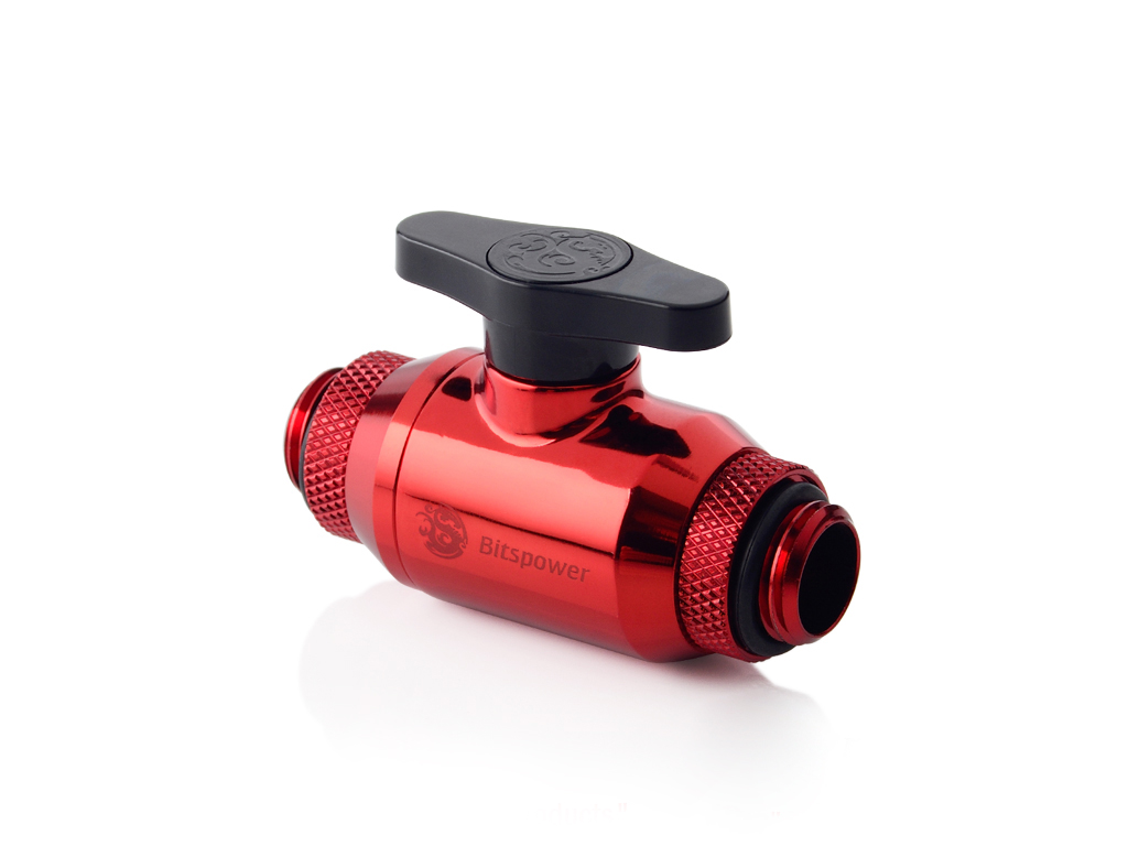 Bitspower Deep Blood Red Dual Rotary Mini Valve With G1/4