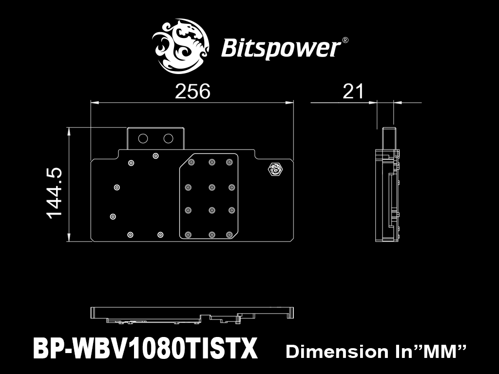 Bitspower ASUS STRIX GTX 1080 Ti Acrylic (Golden) Limited Edition