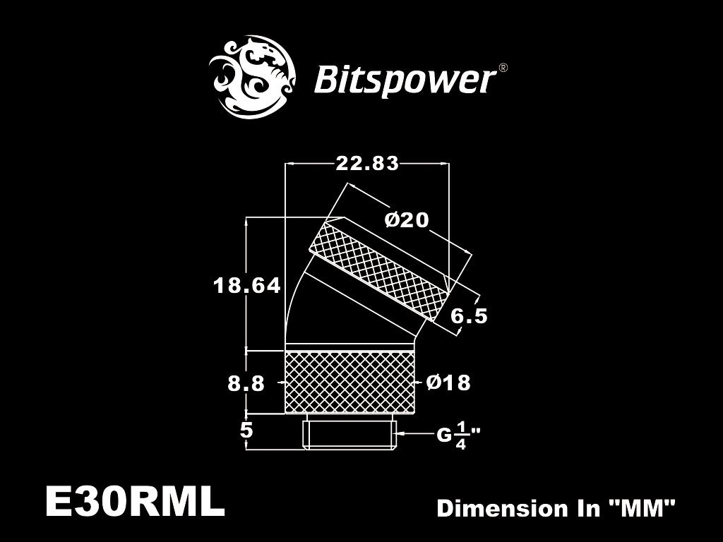Bitspower Black Sparkle Enhance Rotary G1/4