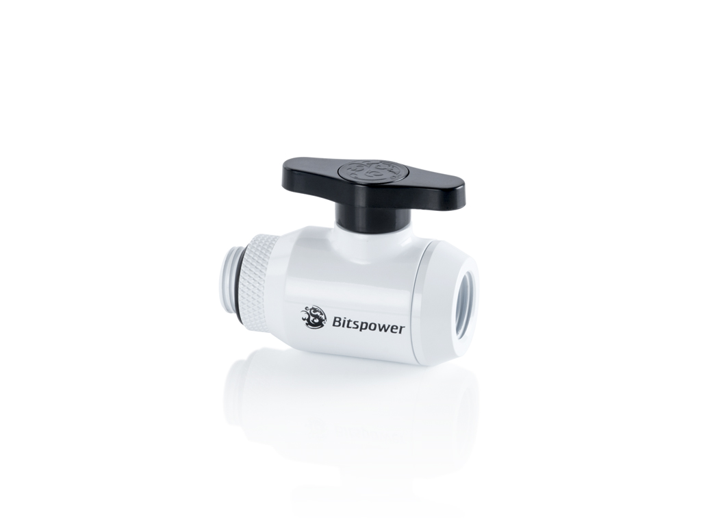 Bitspower Deluxe White Mini Valve Rotary G1/4