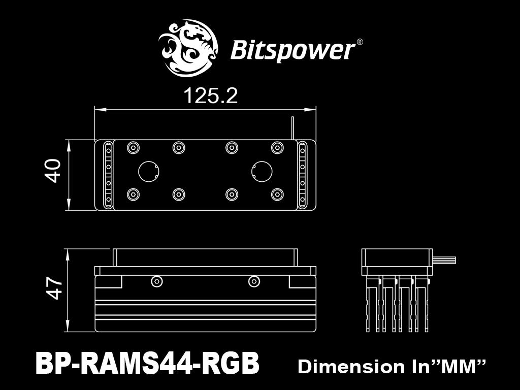 Bitspower 4-DIMMS RAM Module - RGB