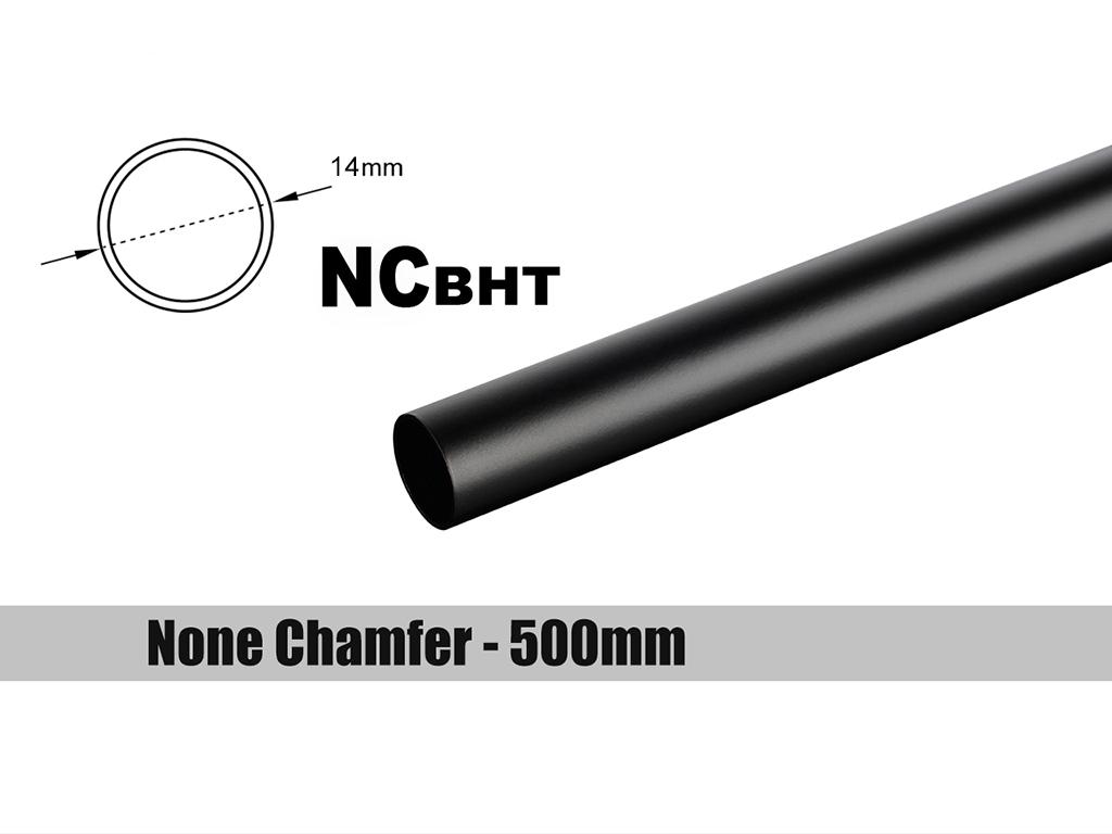 Bitspower None Chamfer Brass Hard Tubing OD14MM Carbon Black - Length 500 MM
