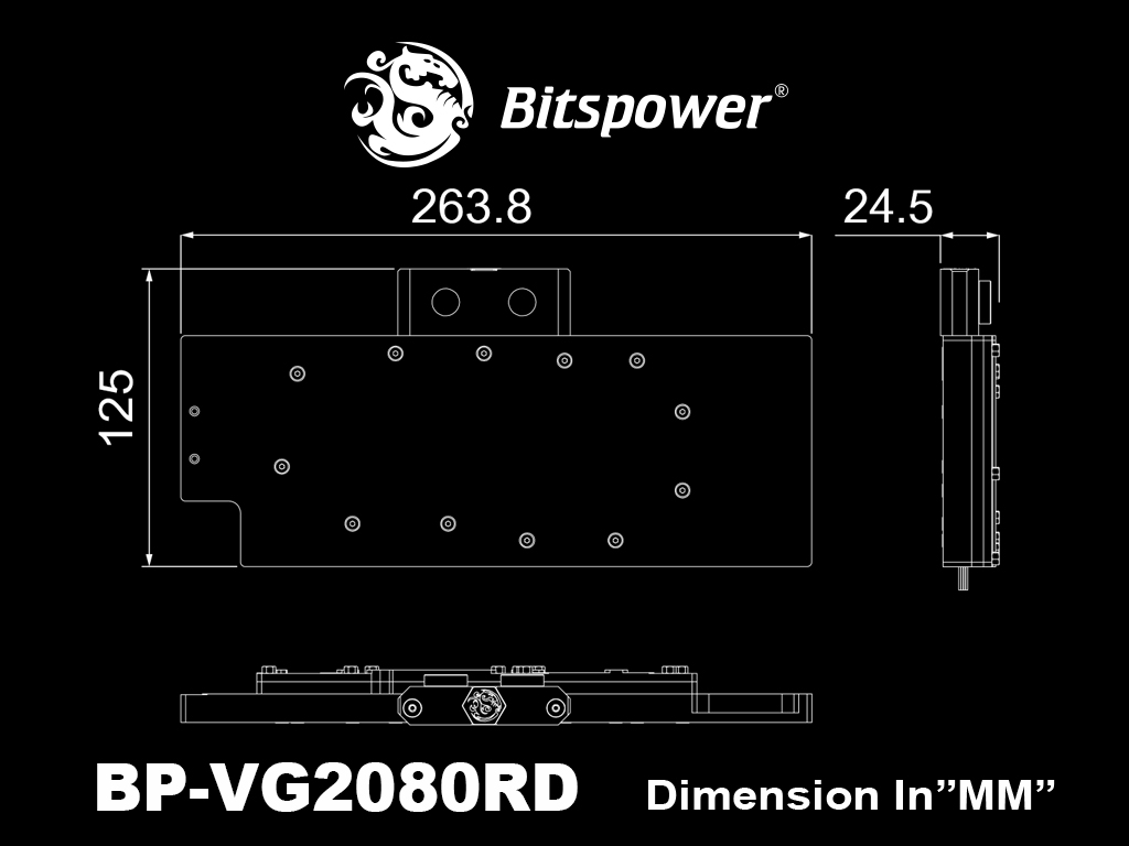 Bitspower Lotan VGA Waterblock for NVIDIA GeForce RTX 20 Series