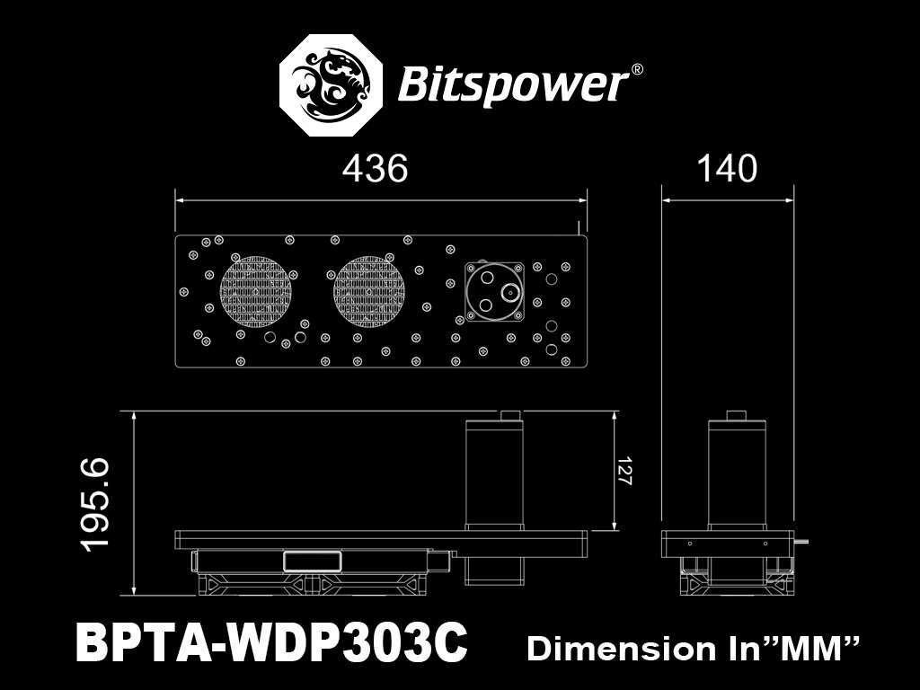 Bitspower Sedna 303C for InWin 303C ATX Chassis