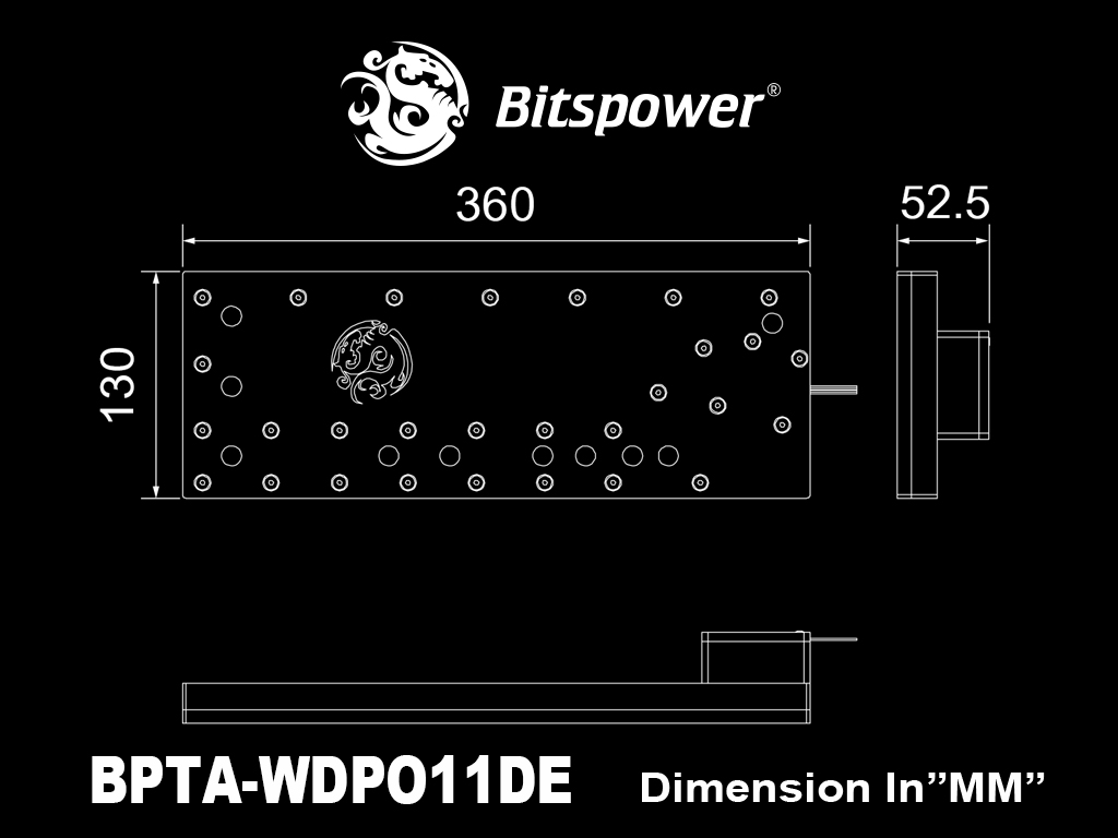 Bitspower Touchaqua Sedna O11D for LIAN LI O11 DYNAMIC (PWM)