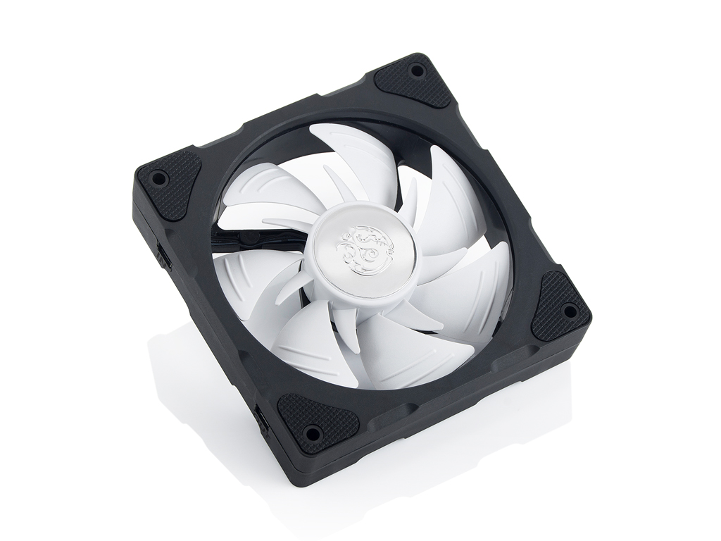 Bitspower NJord Dual Fin DRGB Fan- White