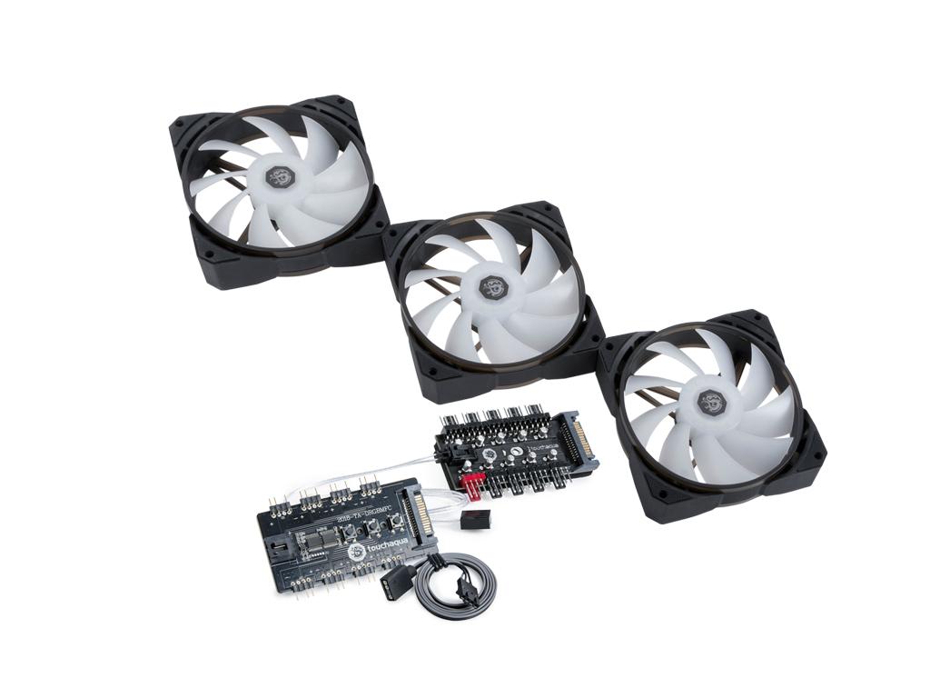 Bitspower NJORD II 120 PWM Fan Digital RGB (3PCS)