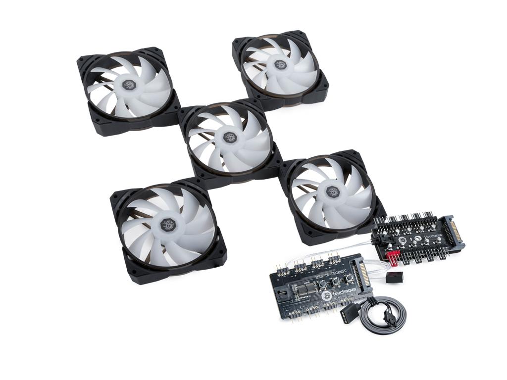 Bitspower NJORD II 120 PWM Fan Digital RGB (5PCS)