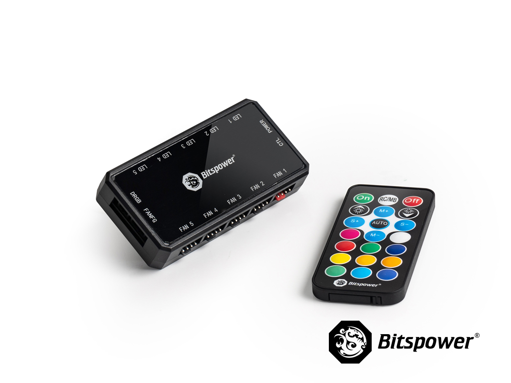 Bitspower Fan and Digital RGB RF Remote Controller Hub