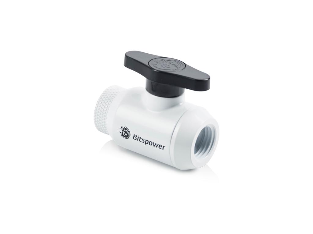 Bitspower Deluxe White Mini Valve Rotary Inner G1/4