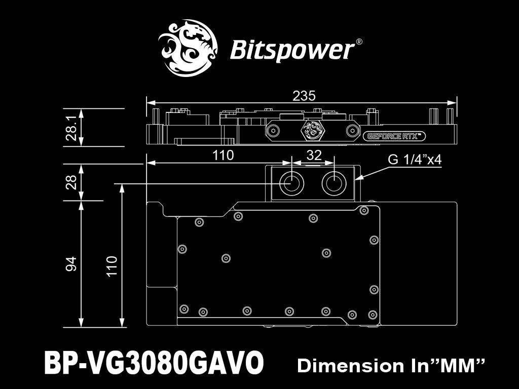 Bitspower Classic VGA Water Block for GIGABYTE GeForce RTX 3080 GAMING OC 10G